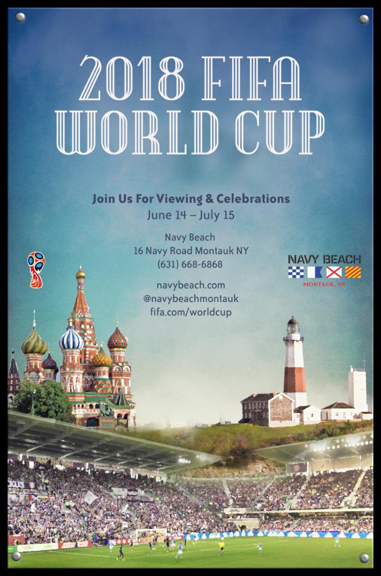 Navy Beach World Cup 2018 poster
