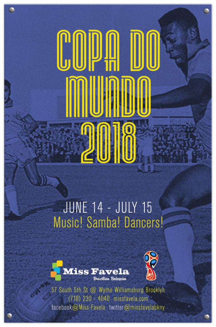 Miss Favela World Cup 2018 poster