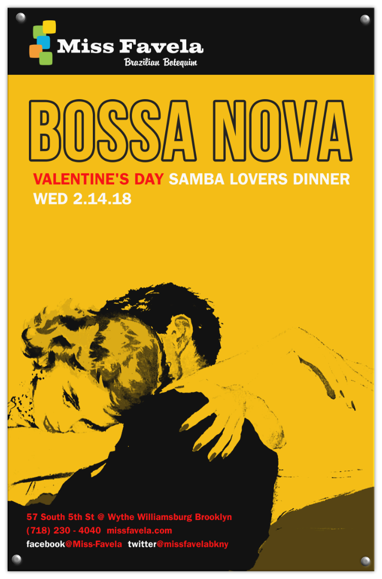 Miss Favela Valentine's Day poster