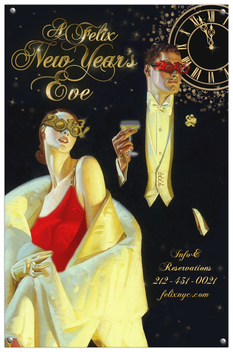 Felix Restaurant New Year's Eve poster