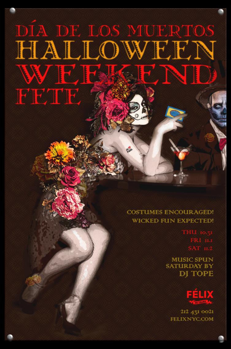Felix Restaurant Halloween poster