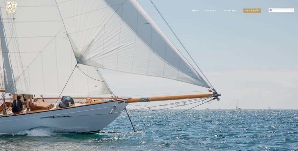 Kelpie Yacht Charters website homepage