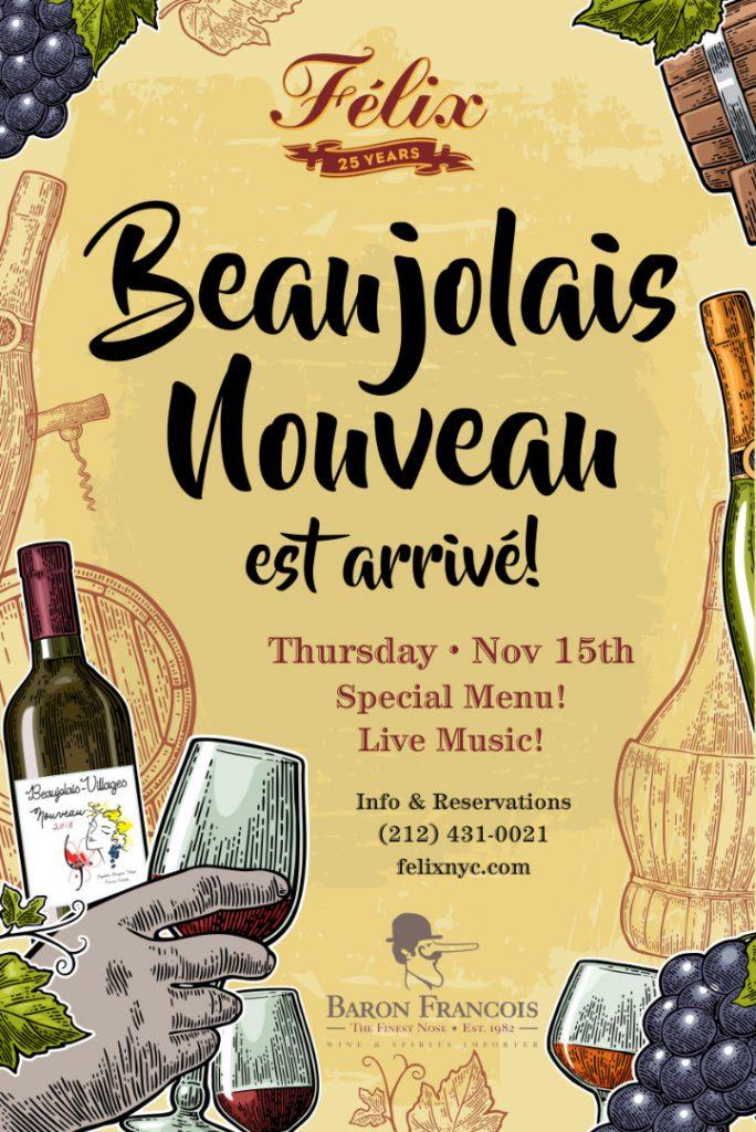 Felix Restaurant Beaujolais Nouveau poster
