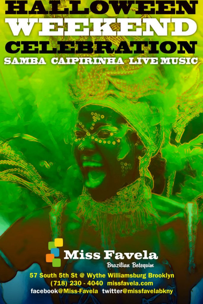 Miss Favela Halloween poster