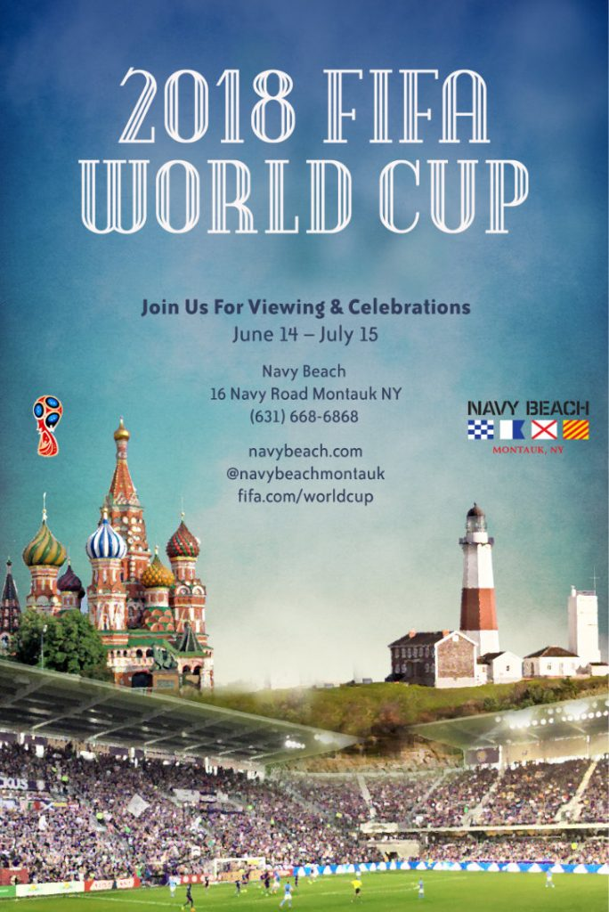 Navy Beach World Cup 2018 poster
